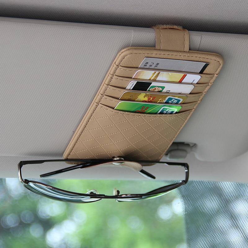 Автомобильный карманный органайзер для солнцезащитного козырька
