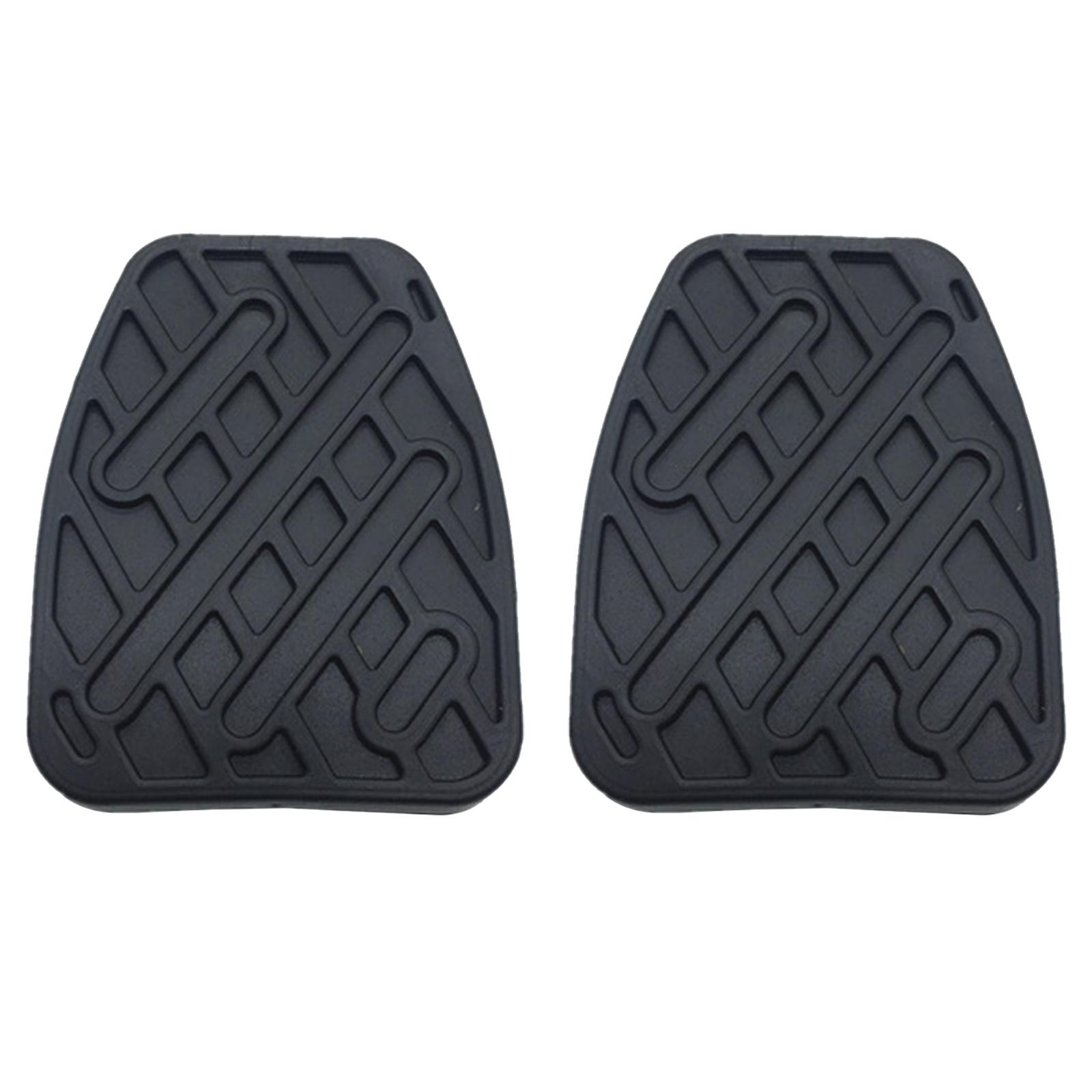 Черные резиновые накладки на педали тормоза и сцепления